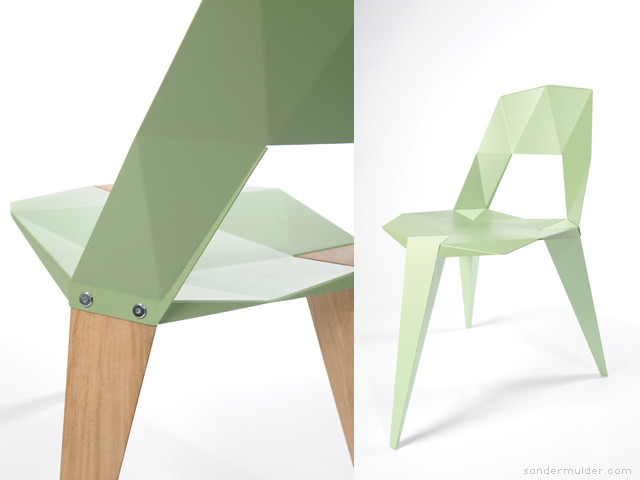 Pythagoras 3 legged chair by Sander Mulder