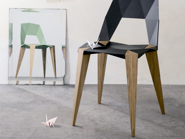 Pythagoras 4 legged chair by Sander Mulder for Kubikoff